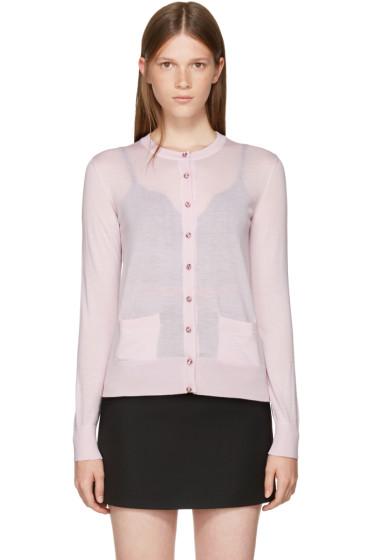 Dolce & Gabbana - Pink Swarovski Button Cardigan