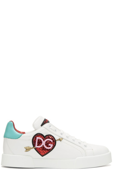 Dolce & Gabbana - White Heart Sneakers