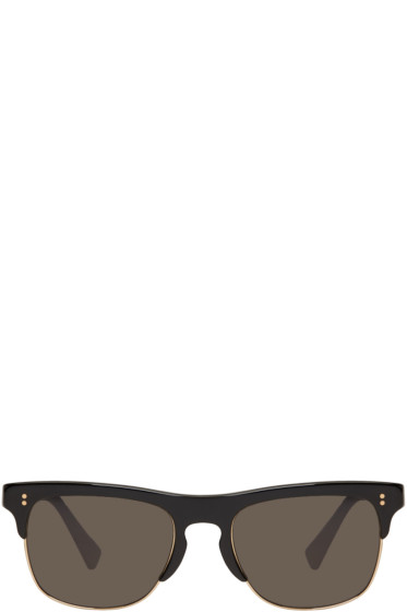 Dolce & Gabbana - Black Semi-Rimless Sunglasses