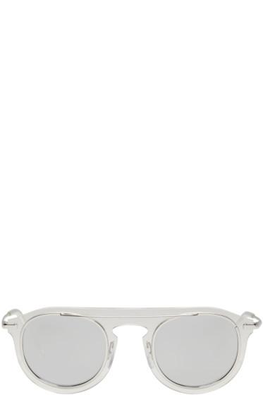 Dolce & Gabbana - Silver Flat Frame Sunglasses