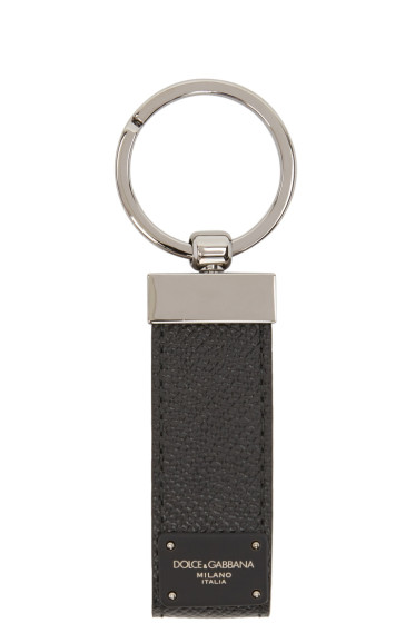 Dolce & Gabbana - Black Classic Leather Keychain