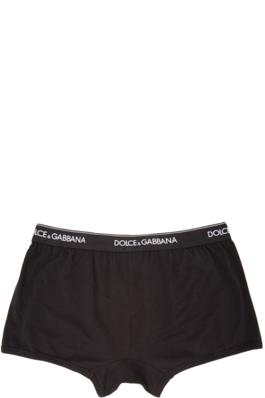 Dolce & Gabbana - Two-Pack Black Boxer Briefs