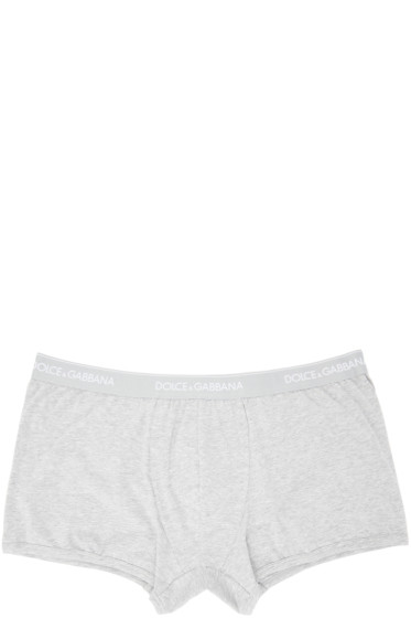 Dolce & Gabbana - Two-Pack Grey Boxer Briefs