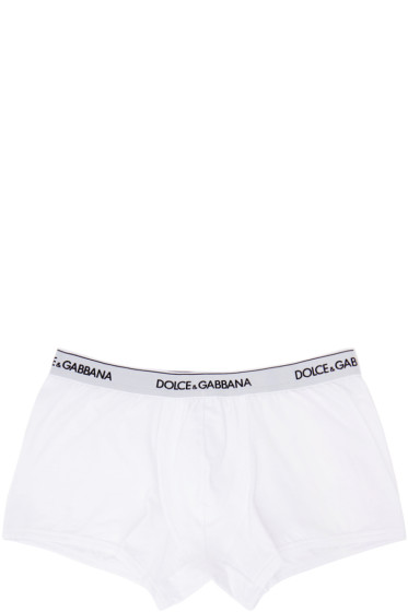 Dolce & Gabbana - Two-Pack White Boxer Briefs