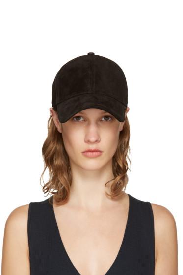 Rag & Bone - Black Suede Marilyn Baseball Cap