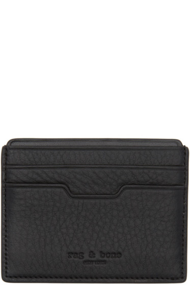 Rag & Bone - Black Leather Card Holder