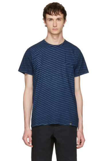 Rag & Bone - Indigo Striped James T-Shirt