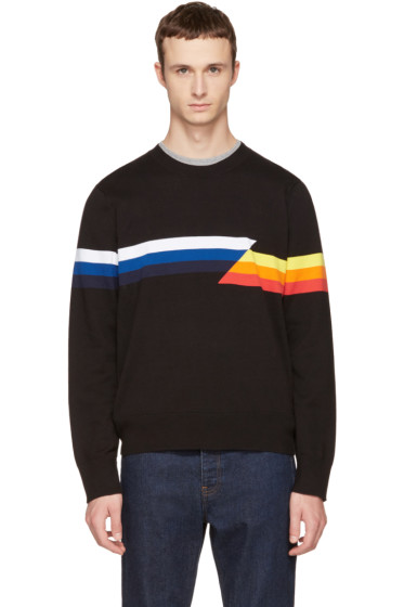 Rag & Bone - Black Glitch Graphic Sweater