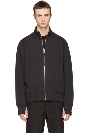 Rag & Bone - Black Trooper Zip-Up Sweater