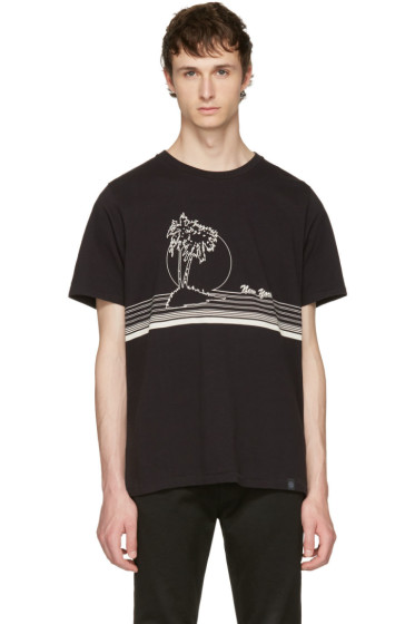 Rag & Bone - Black 'New York' Palm T-Shirt