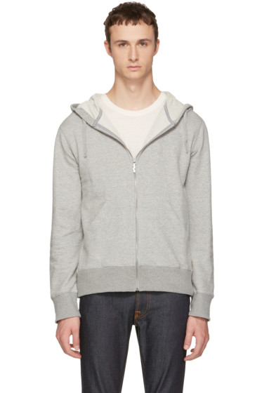 Nudie Jeans - Grey Loke Light Zip Hoodie