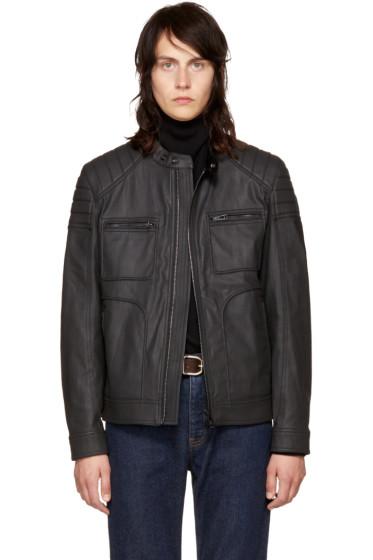 Belstaff - Black Coated Denim Weybridge Jacket