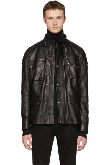 Belstaff - Black Leather Woodbridge Jacket