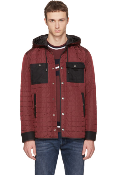 Diesel Black Gold - Burgundy Quilted Jacket