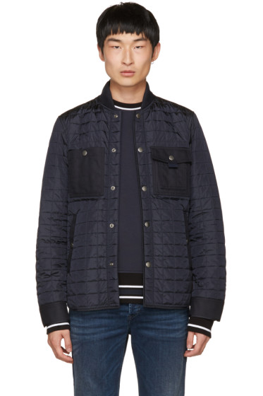 Diesel Black Gold - Navy Quilted Jacket
