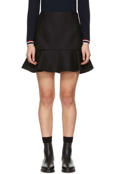 Moncler - Black Ruffle Miniskirt