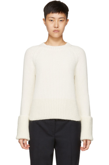Moncler - Off-White Crewneck Sweater