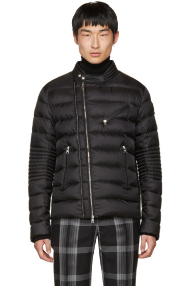 Moncler - Black Down Aubin Biker Jacket