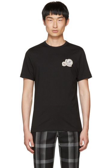 Moncler - Black Double Logo Patch T-Shirt