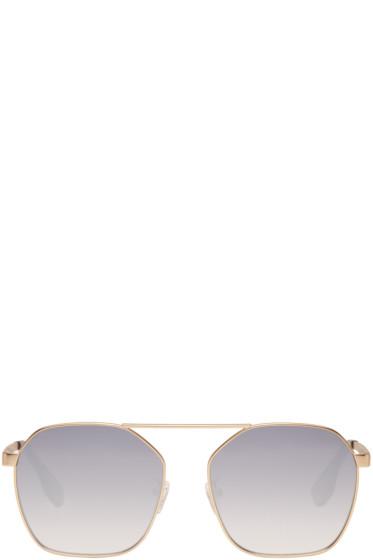 McQ Alexander McQueen - Gold Hexagon Sunglasses