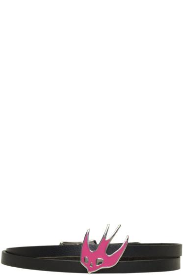 McQ Alexander McQueen - Black Swallow Mini Wrap Bracelet