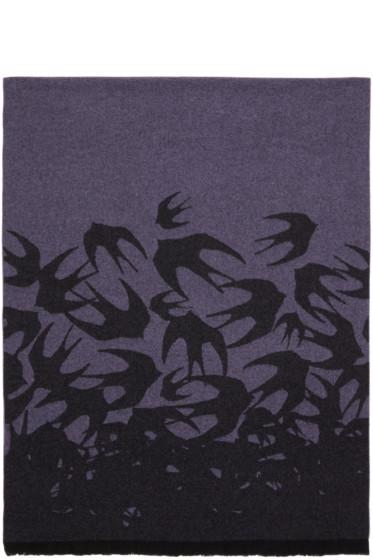 McQ Alexander McQueen - Purple Swallow Dégradé Scarf