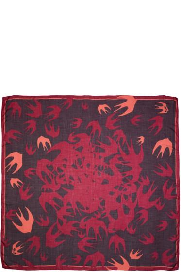 McQ Alexander McQueen - Purple & Pink Swallow Swarm Scarf