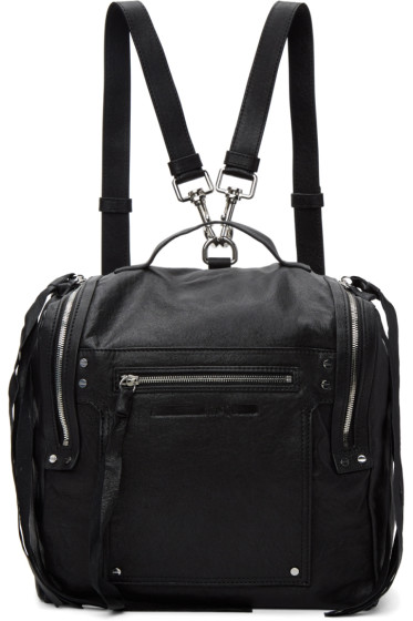McQ Alexander McQueen - Black Convertible Box Backpack