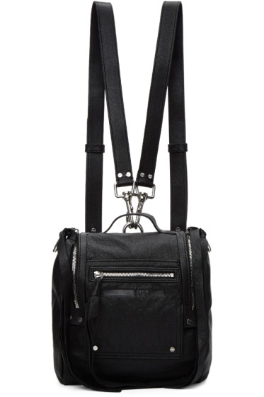 McQ Alexander McQueen - Black Mini Convertible Box Backpack