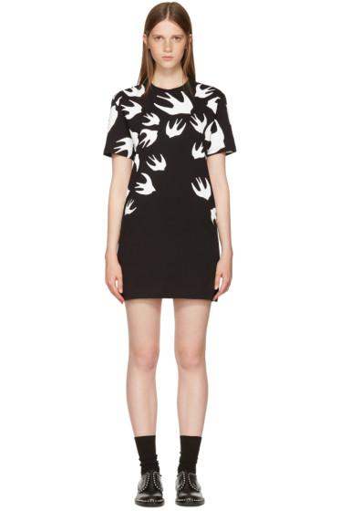 McQ Alexander McQueen - Black & White Swallows T-Shirt Dress