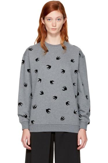 McQ Alexander McQueen - Grey Micro Swallow Sweatshirt