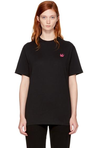 McQ Alexander McQueen - Black Swallow Badge Classic T-Shirt
