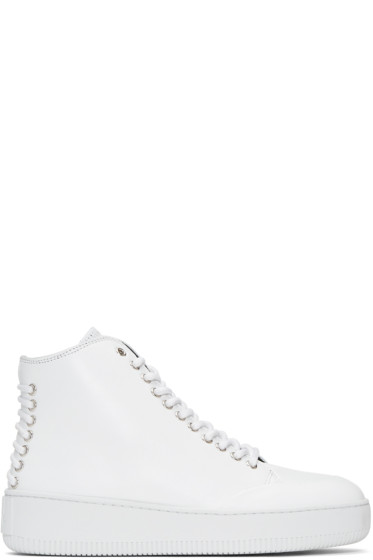 McQ Alexander McQueen - White Netil Eyelet High-Top Sneakers