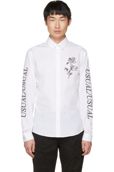 McQ Alexander McQueen - White 'Usual/Usual' Shirt