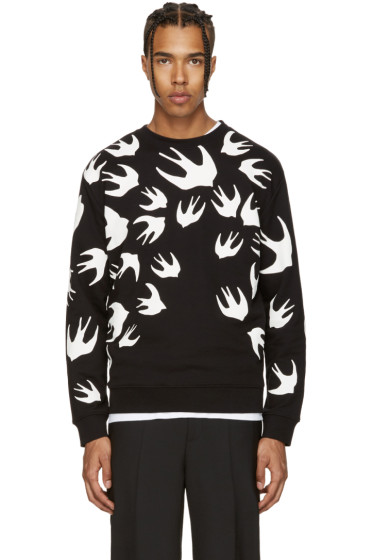 McQ Alexander McQueen - Black & White Swallows Clean Sweatshirt