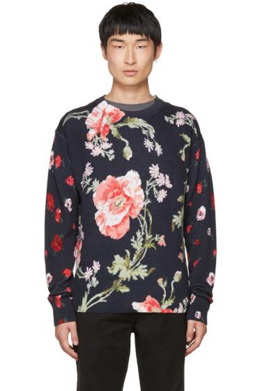 McQ Alexander McQueen - Navy 'Thrift Store Florals' Sweater