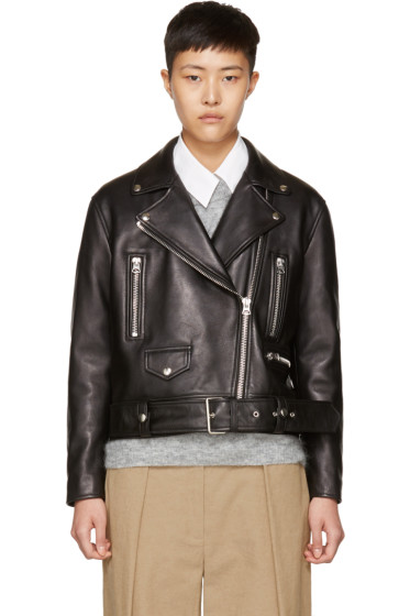 Acne Studios - Black Leather Merlyn Biker Jacket