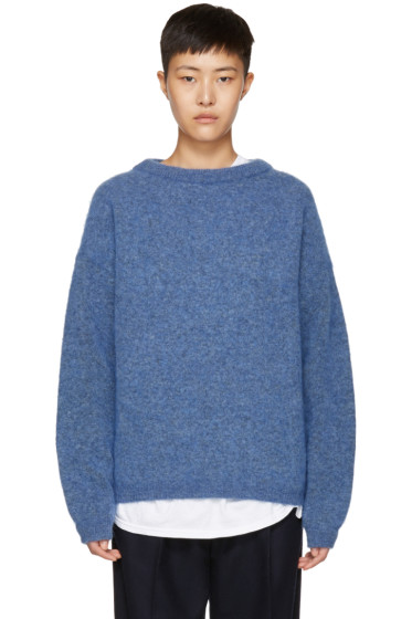 Acne Studios - Blue Mohair Dramatic Sweater