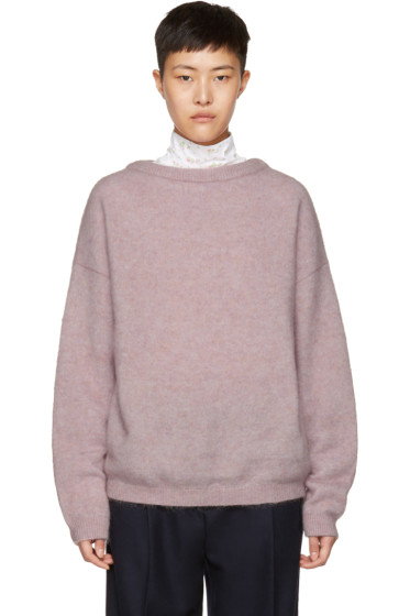 Acne Studios - Pink Mohair Dramatic Sweater