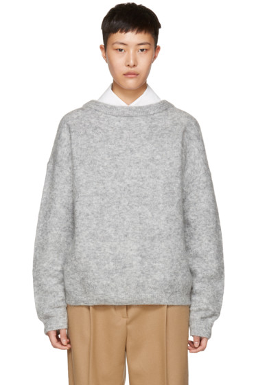Acne Studios - Grey Mohair Dramatic Sweater
