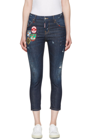 Dsquared2 - Blue Patchwork Cool Girl Jeans