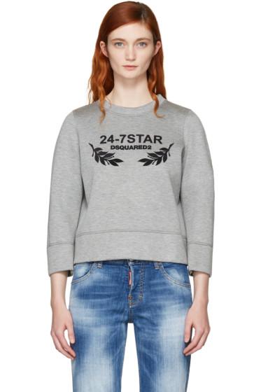 Dsquared2 - Grey Felted Logo Sweatshirt
