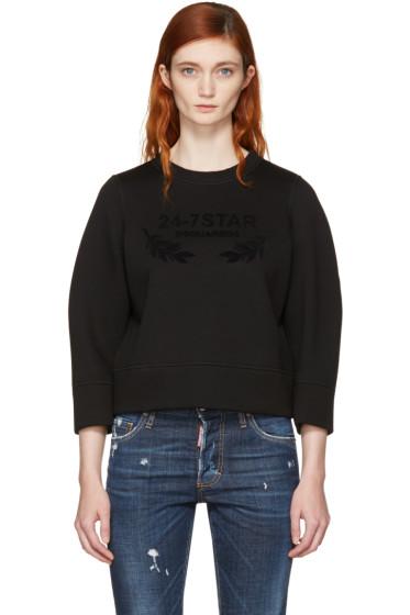 Dsquared2 - Black Felted Logo Sweatshirt