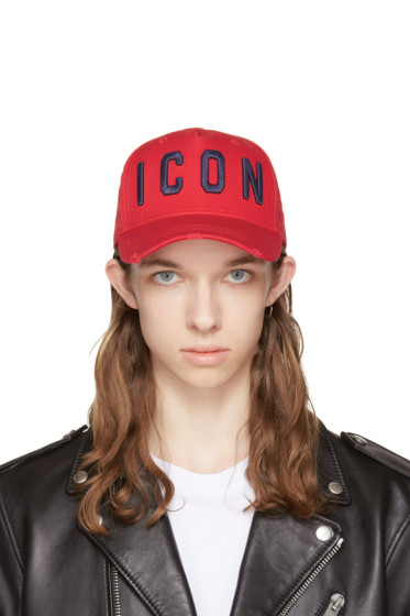 Dsquared2 - Red 'Icon' Cap