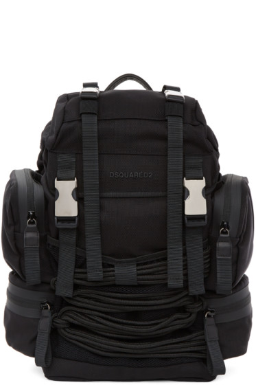 Dsquared2 - Black Akira Backpack