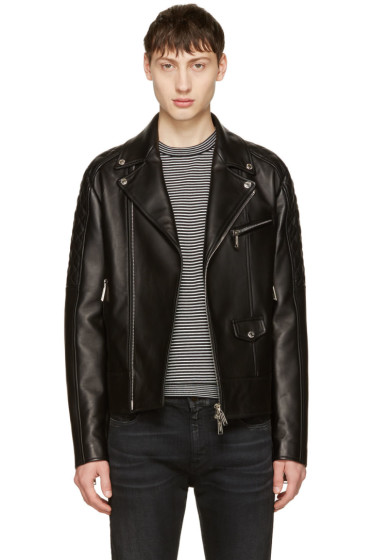 Dsquared2 - Black Classic Leather Jacket