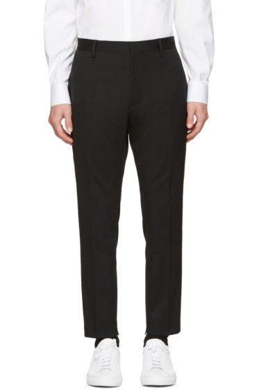 Dsquared2 - Black Wool Evening Trousers