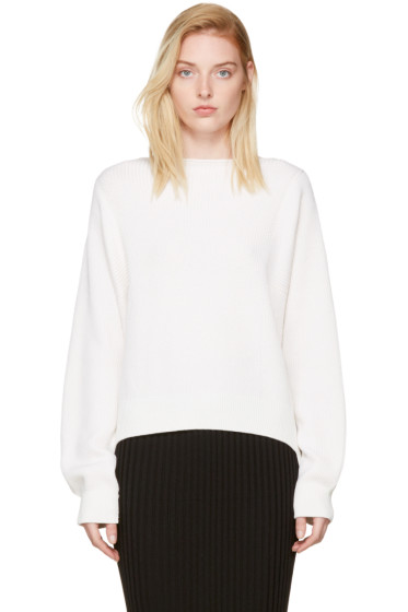 Helmut Lang - Ivory Side Strap Sweater