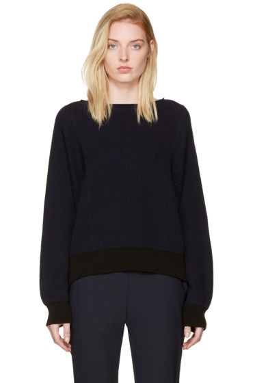 Helmut Lang - Navy Side Strap Sweater