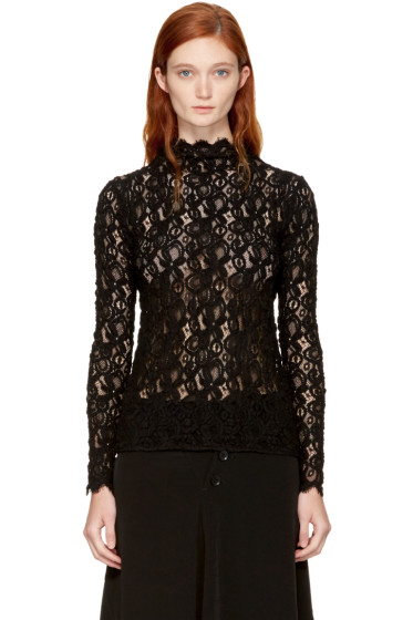 Helmut Lang - Black Lace Blouse